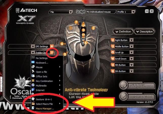 Как сделать свой макрос на мышке x7 512