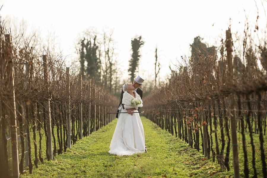 Gli sposi tra le vigne