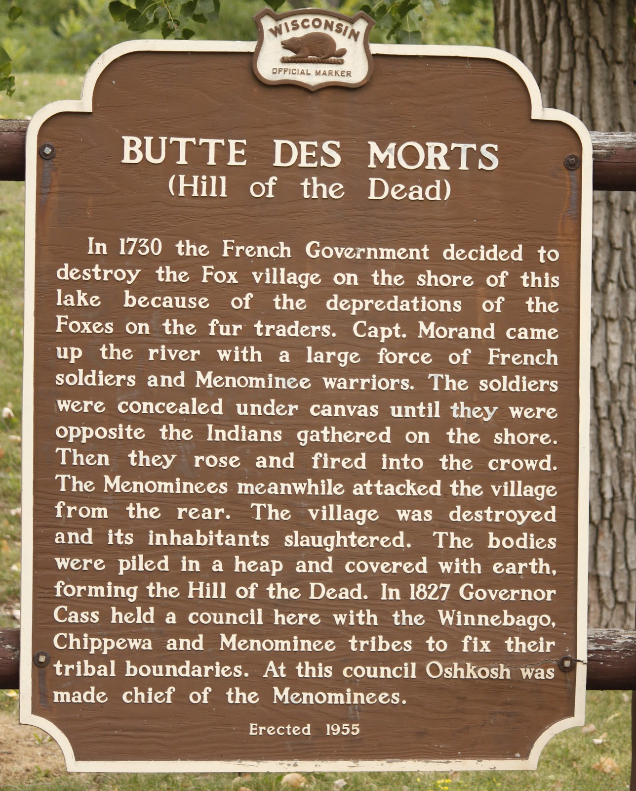 Marker of the Week:<br>Marker40: Butte Des Morts