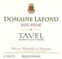 Domaine Lafond Tavel Rose