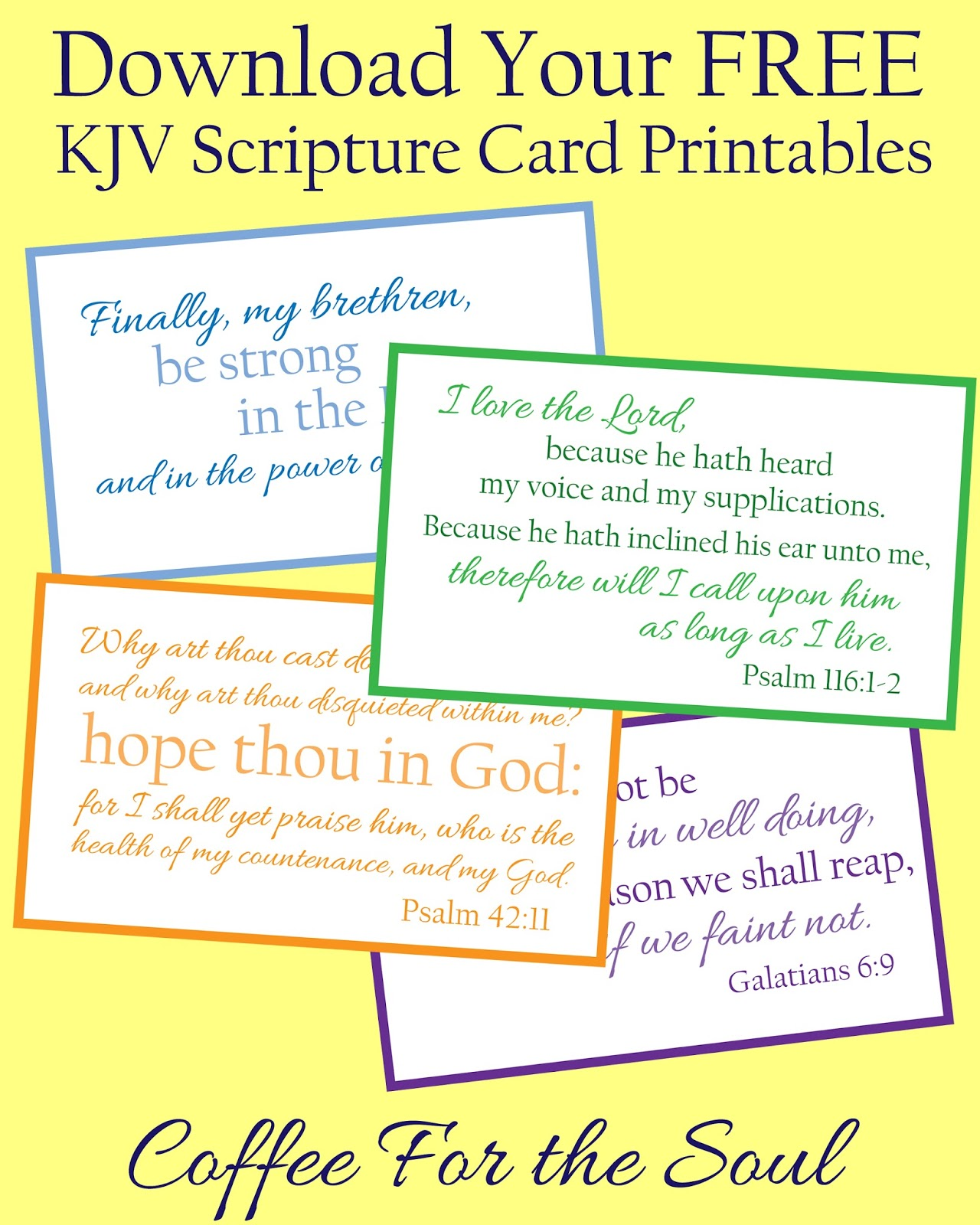 Gorgeous image for printable bible verses kjv