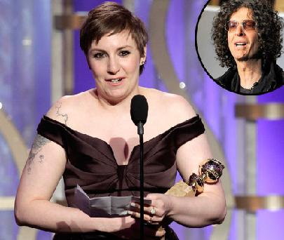 "Howard Stern pitying Bashing Lena River Dunham, Calls Himself a ladies ""Superfan"""