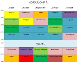 HORARIO ESCOLAR  2015/16