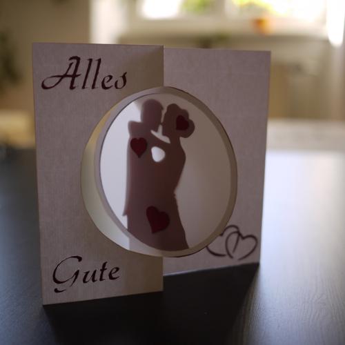 Klebefinger: Montagskarte: Hochzeits-Glückwünsche