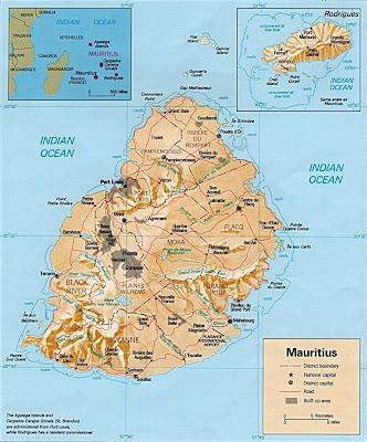 Mapa de la isla de mauricio mauritus map Île Maurice