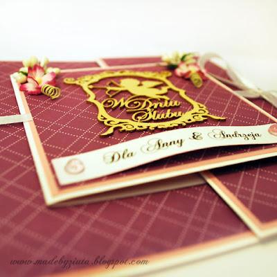 kartki okolicznościowe kartka ślubna weselna typu składaczek barbara wójcik