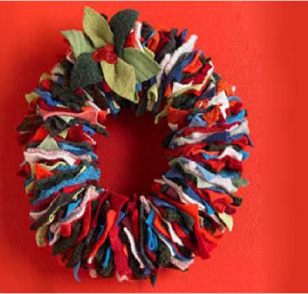 econotascom coronas de navidad con tela reciclada ideas para decorar esta navidad