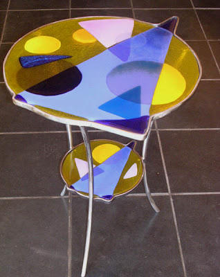 Unique stained glass table #1