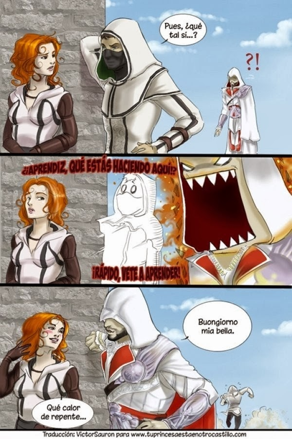imagenes graciosas - Ezio Auditore y su aprendiz
