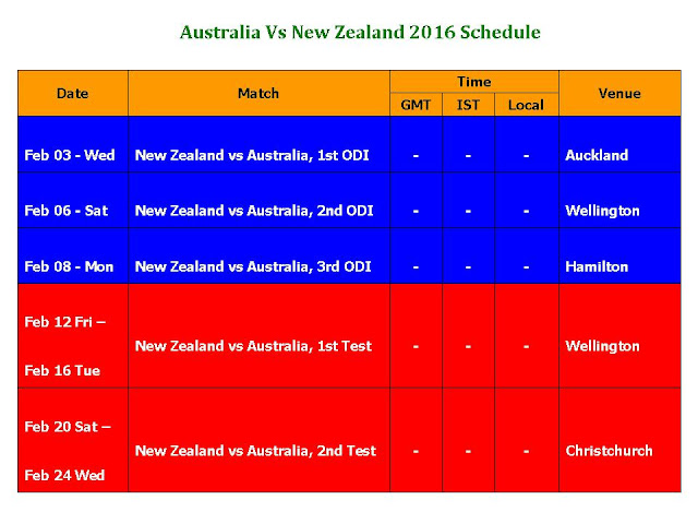 Australia Vs New Zealand 2016 Schedule,Australia Vs New Zealand 2016 fixture,Australia Vs New Zealand 2016 schedule & time table,cricket,series,australia tour of new zealand 2016,full schedule,fixture,time table,icc cricket 2016 calendar,cricket time table,Australia (Country),New Zealand (Country),ODI,AUS Vs. NZ series 2016,2016 cricket calendar,test match,match detail,venue,New Zealand Vs Australia 2016 Schedule