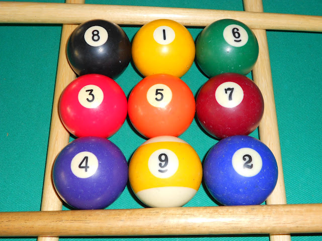 Installation of magic square 3x3 using pool balls photo 3