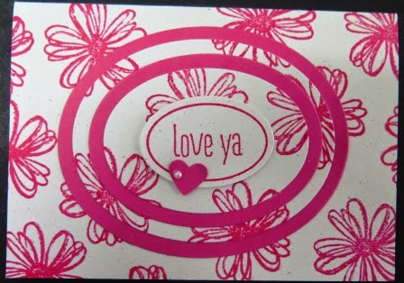 Triple layer stamping classes held by Zena Kennedy Independent Stampin Up demonstrator