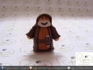 Obi Wan Kenobi Belen de Star Wars hecho con Fimo
