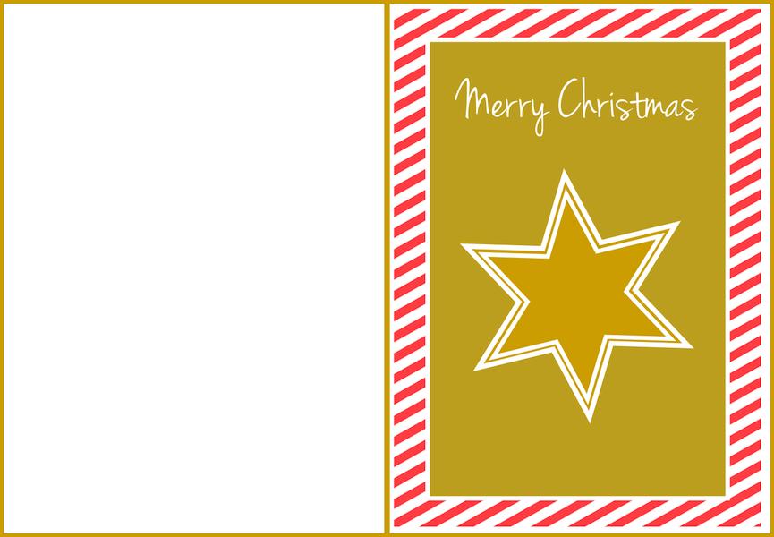 Merry christmas free printable holiday greeting card
