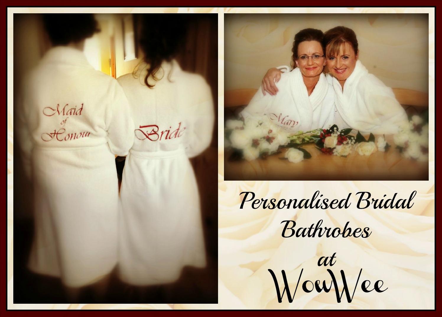 Personalised Bridal Robes at WowWee.ie