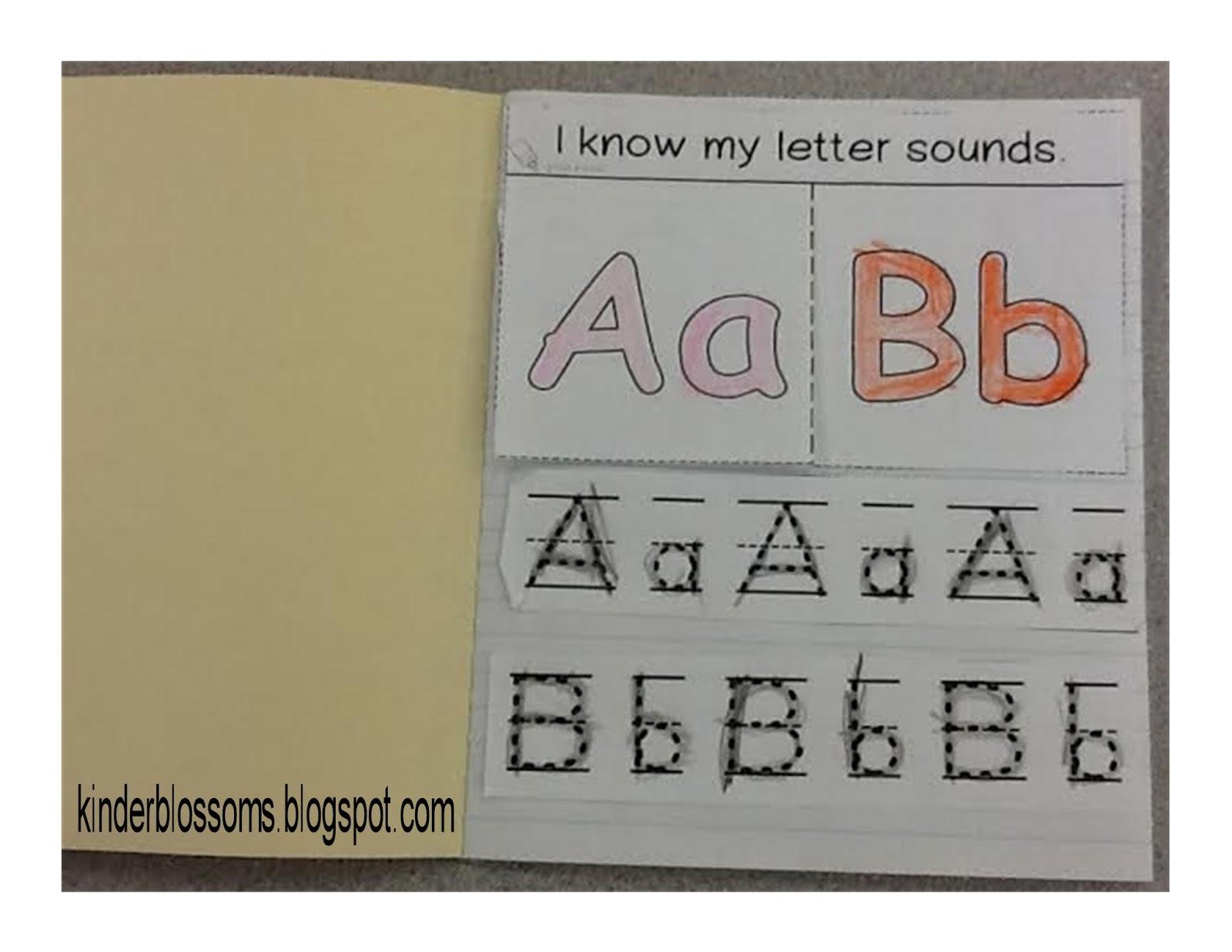 Christina39s kinder blossoms interactive alphabet notebook for Alphabet letter notebook