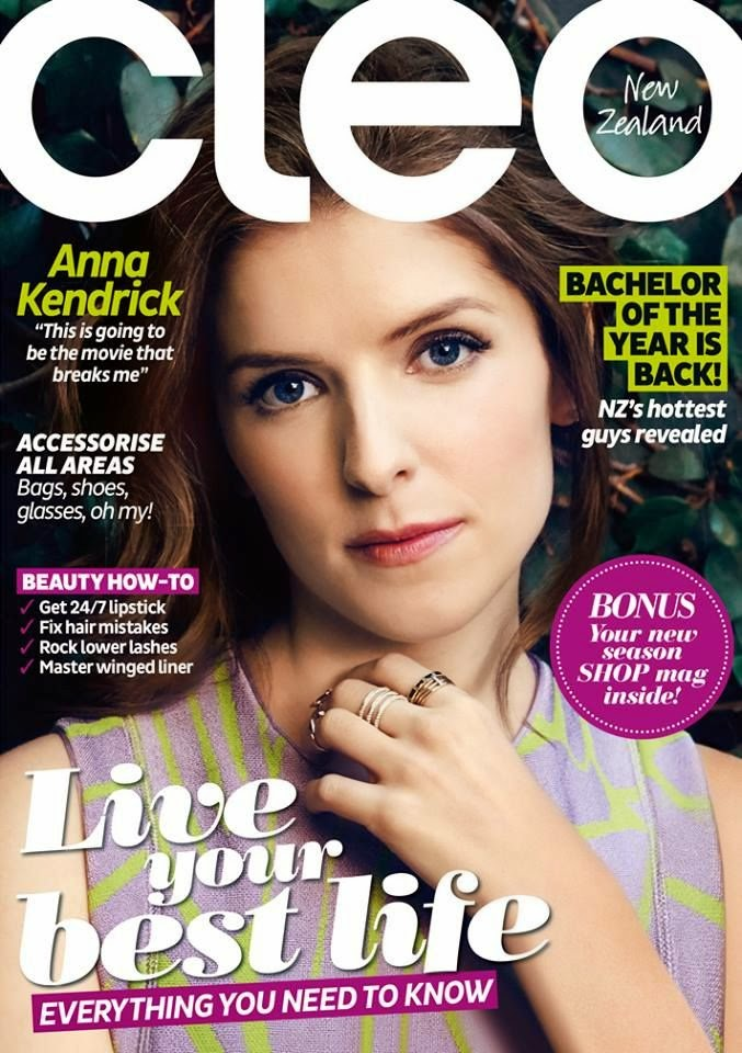 Actress @ Anna Kendrick - Cleo New Zealand, May 2015