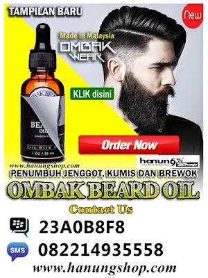 Ombak Beard Oil Penumbuh Jenggot, Kumis dan Brewok Original 100% Ampuh