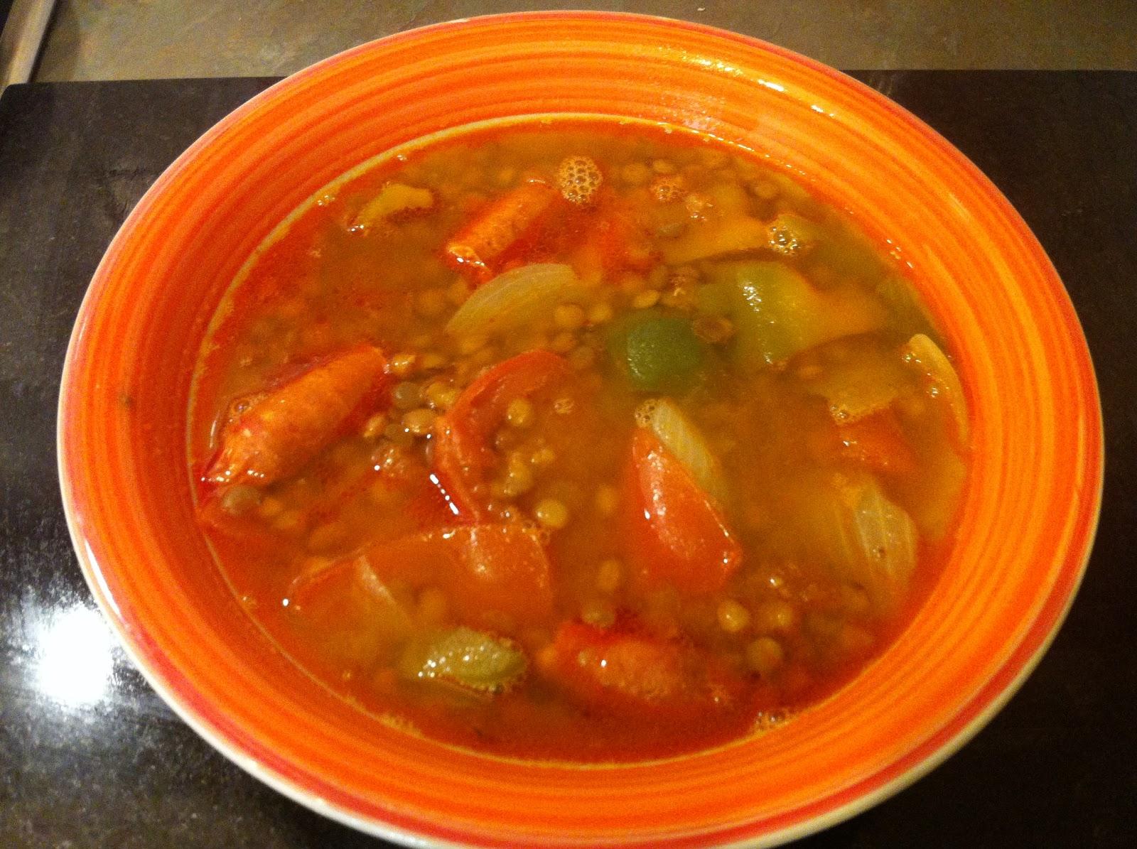 Лентехас чечевичный суп рецепт