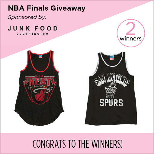 NBA Finals Giveaway from Junk Food Clothing