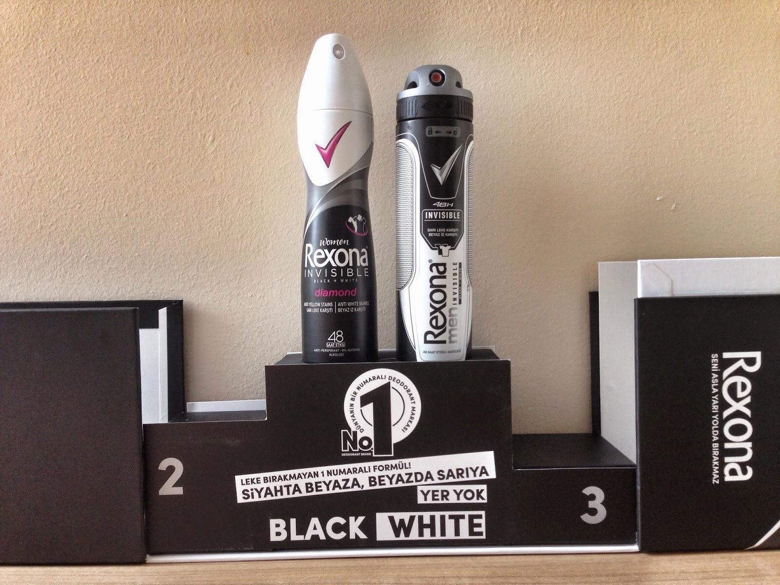 Rexona'dan yeni iz bırakmayan deodorant Rexona // Black + White