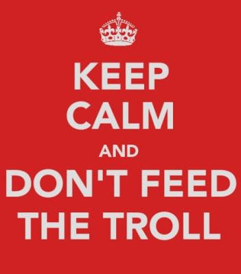 Troll en las redes sociales de una empresa