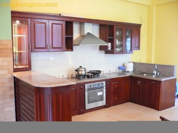 Tủ bếp gỗ, tủ bếp sang trọng, tủ bếp xinh đẹp