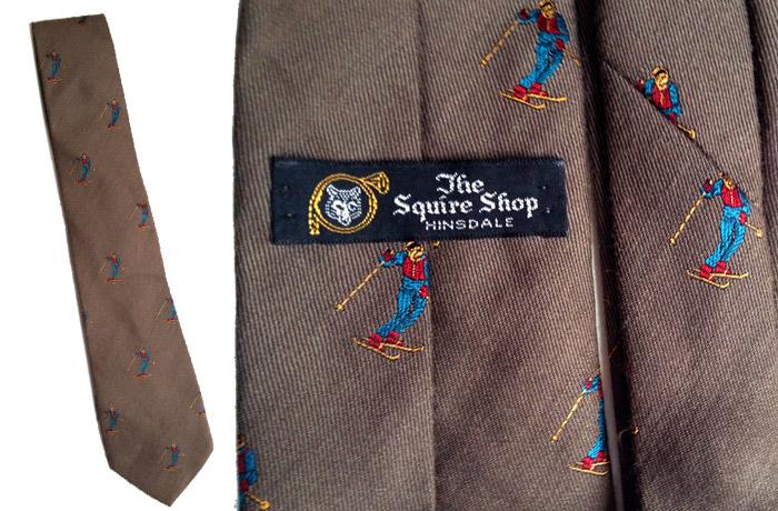 Brown ski tie
