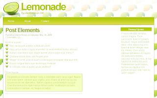 Lemonade Template Blogger