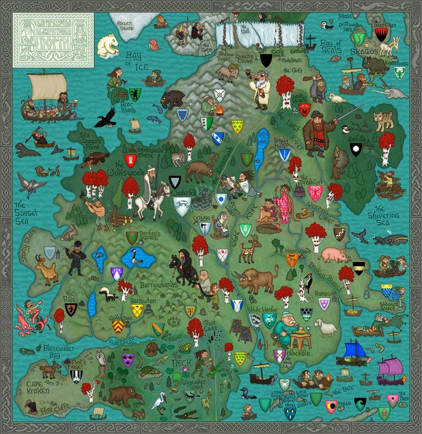 Mapa de El Norte, Juego de Tronos