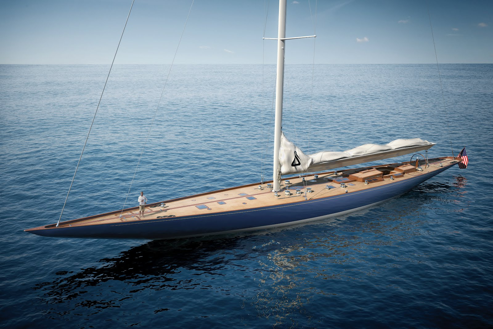 Luxus segelyacht holz  Megayacht Global: New J Class Build 'Cheveyo' by Spirit Yachts