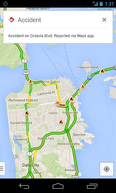 Google Maps with Waze