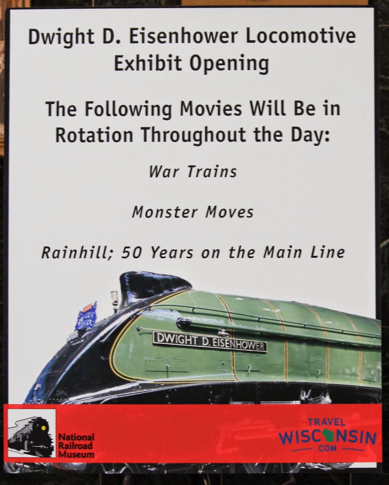 Dwight D. Eisenhower Locomotive Exhibit Opening August 2, 2014