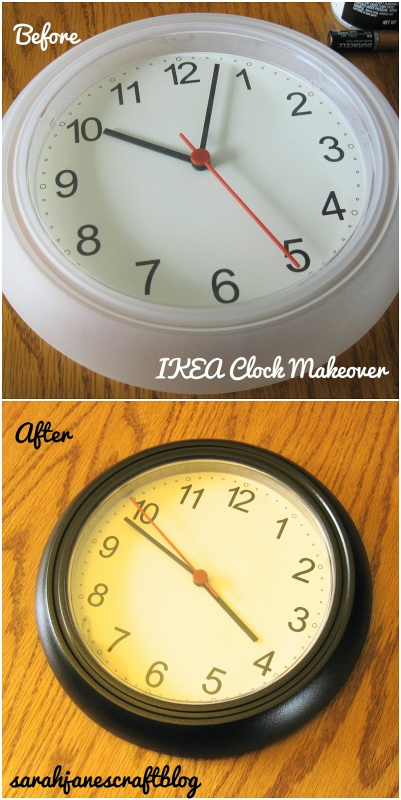 IKEA Hack Spray Painted Clock