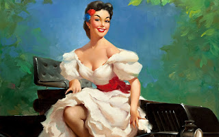 Fondos de Pantalla 4 Vintage Chicas Pin Up