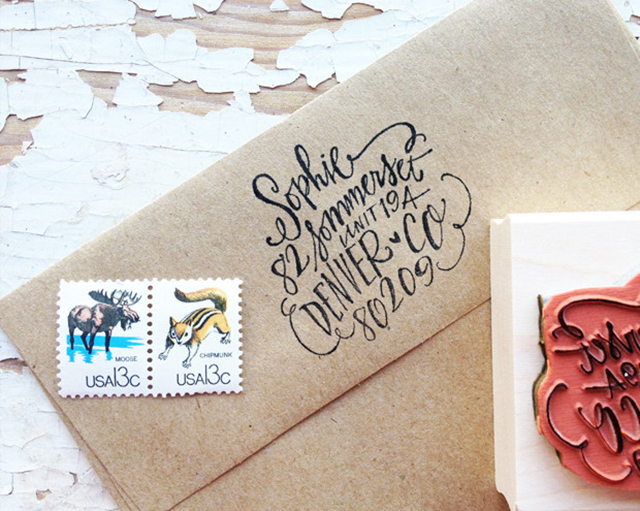 giveaway lindsay letters address stamp thoughts by natalie With letter return address stamp