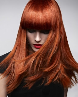 Intensive trendy red hair colours
