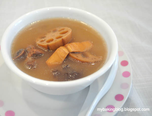 My Baking Recipes: Lotus Root Soup 莲藕汤