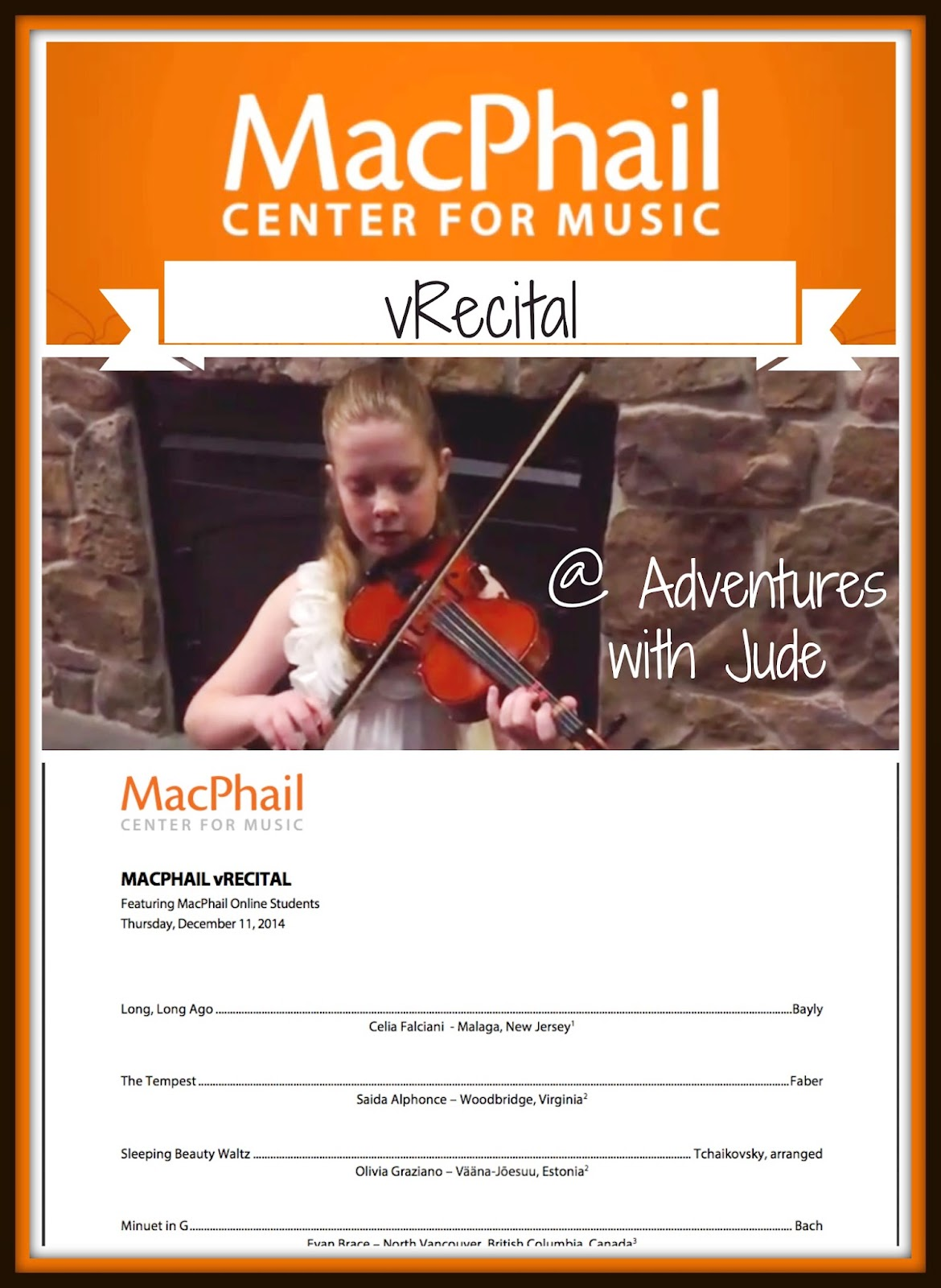 MacPhail Online's first Virtual Recital
