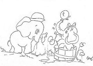 elefantinhas no banho