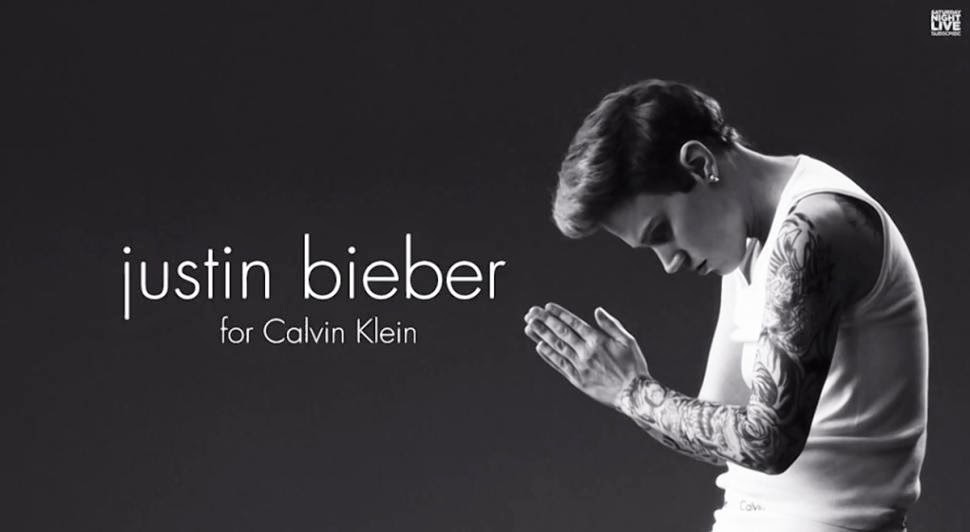 Parodi Iklan Justin Bieber Saturday Night Live for Calvin Klein - Trends7Media