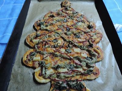 Pizza Árbol De Navidad.