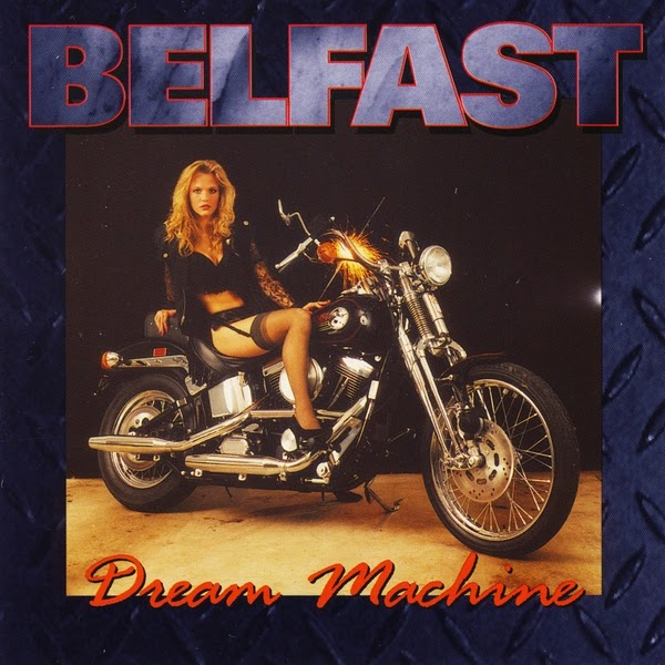 rock album cover sexy woman motorbike