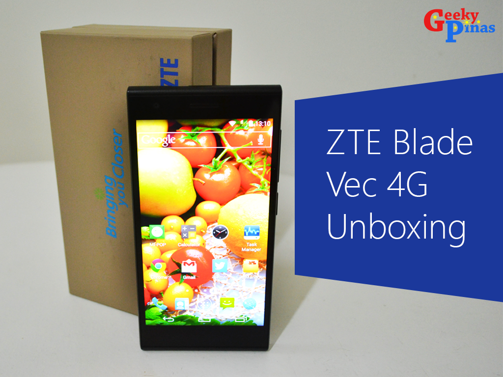 ZTE Blade Vec 4G Unboxing And Initial Impressions