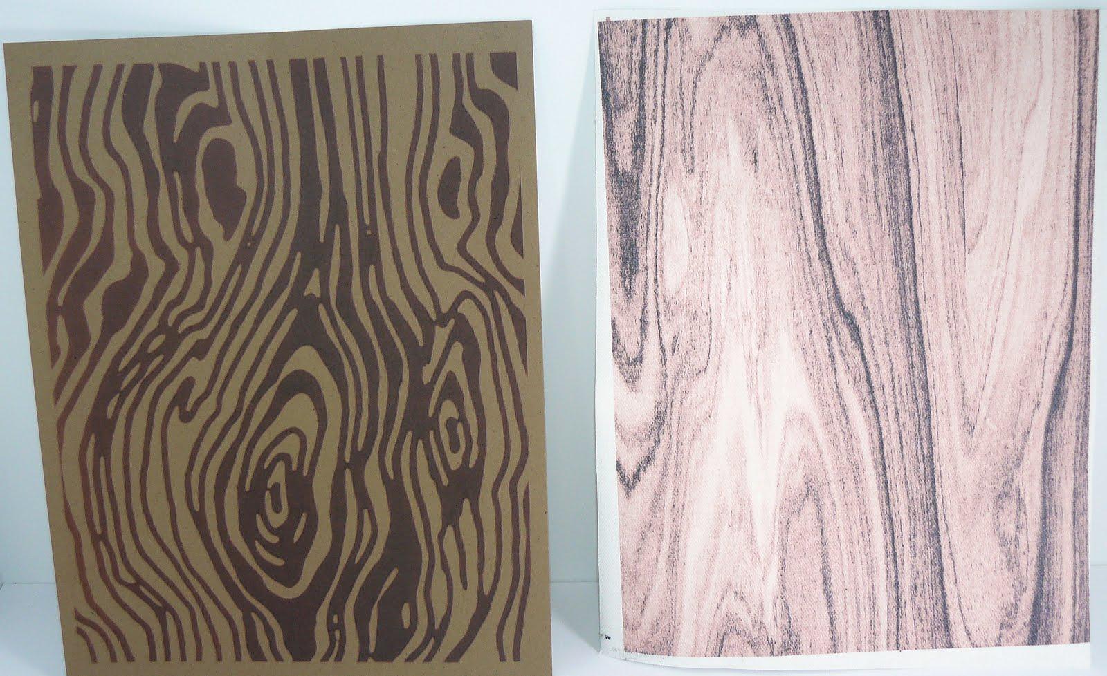 diy woodgrain fabricpaper