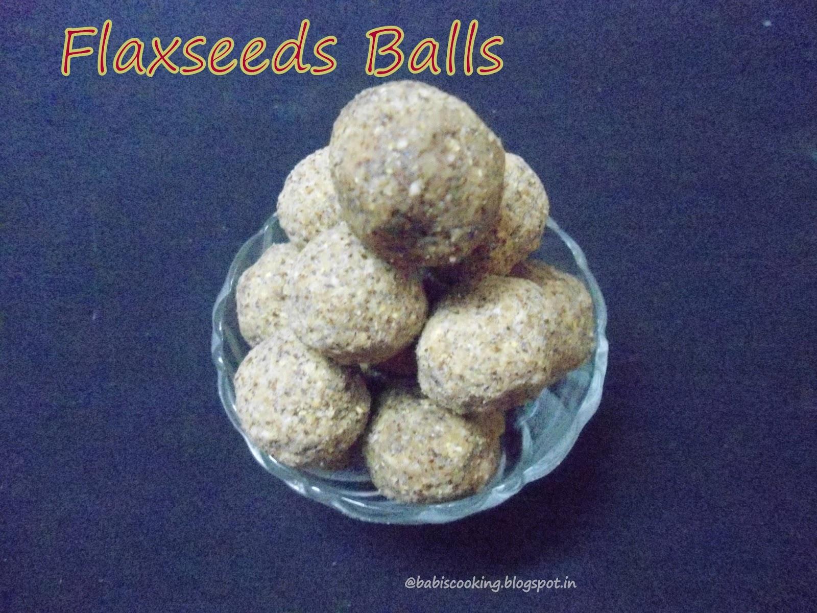 Flax seeds balls