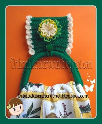 Porta toalla reto amistoso ortizadas en el crochet - Porta toallas para bano ...