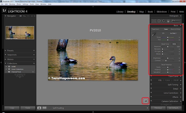 I am sure that Lightroom needs to introduction and very much sure that you must have information about latest release of Adobe Photoshop Lightroom 4. Today we are going to discuss some of the main features of Lightroom and to be specific- 5 Top features. Apart from Top 5 from my point of view, we shall also look at detailed list of new features offered in 4th version of Adobe Photoshop Lightroom.Before jumping on to TOP Features, let's have a quick look at New features Highlighted by Adobe on their official Website -1. Highlight and shadow recovery brings out all the detail that your camera captures in dark shadows and bright highlights    2. Photo book creation with easy-to-use elegant templates   3. Location-based organization lets you find and group images by location, assign locations to images, and display data from GPS-enabled cameras    4. White balance brush to refine and adjust white balance in specific areas of your images   5. Additional local editing controls let you adjust noise reduction and remove moiré in targeted areas of your image   6. Extended video support for organizing, viewing, and making adjustments and edits to video cli    7. Easy video publishing lets you edit and share video clips on Facebook and Flickr®  8. Soft proofing to preview how an image will look when printed with color-managed printe   9. Email directly from Lightroom using the email account of your choiceNow let's have a look at some basic changes you will immediately notice in 4th version of Adobe Photoshop Lightroom.Now you see 7 rooms instead of 5 we had in 3rd version of Lightroom. In 4th release two extra rooms for MAP and BOOK are added. We shall discuss these two rooms in Detai The most popular room among Photographers, Develop Room, has some new/modified Basic Controls as shown in the image below. You must have noticed that Fill-Light, Brightness and Recovery are missing. But don't worry, it's just a matter of improved naming convention with enhanced/easy capability of playing with light information in your Photographs.Apart from that you must have noticed that all adjustment controls in Basic panel are ranging from -100 to 100 and default values are 0which was not the case with Lightroom 3. Of course, which is a detailed topic to discuss separately. Good part is that you can access old controls as well in Lightroom 4.0... We shall see how..Above Photograph shows how Basic Panel of Develop Room looks in Adobe Photoshop Lightroom 3. But same controls can be accessed in 4th version of Adobe Photoshop Lightroom. Please see image below to see same controls in LR4These controls are driven by Process version selected in Camera Calibration section of Develop Room in Adobe Photoshop Lightroom 4.0. Please see image below to understand it better.Adjustment brush in LR4 is more capable of doing local adjustment in a Photograph. Now Adjustment controls are more in Develop Room of Lightroom 4.0. Please have a look at image below to see additions with respect to LR 3.0below image shows basic Adjustment Controls we had in Adobe Photoshop Lightroom 3.0By now, I hope that you have some idea about changes in Lightroom 4.0. We shall be sharing more about TOP FIVE features in Adobe Photoshop Lightroom 4.0 which we feel that Photographers will like the most.