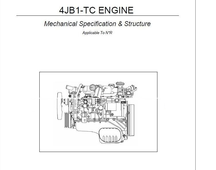 en oto hui com isuzu truck 4jb1 tc engine mechanical specification rh enotohuicom blogspot com