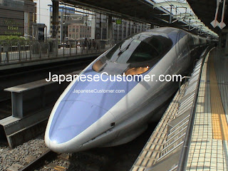 Japanese Bullet Train Copyright Peter Hanami 2010